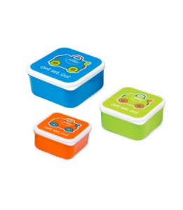 Trunki posodice za malico modra / oranžna / zelena