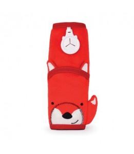 Trunki podloga za pas Seatbeltpad rdeča